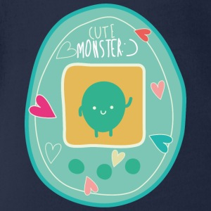 Cute Monster T-Shirts - Baby Bio-Kurzarm-Body