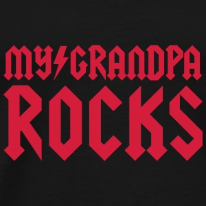 Sort My grandpa rocks Babyhuer  - Herre premium T-shirt
