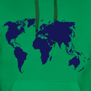 Earth, world map Shirts - Men's Premium Hoodie
