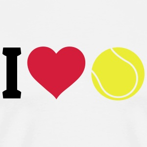 I love tennis Topper - Premium T-skjorte for menn