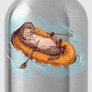 Otter in a Boat T-Shirts - Water Bottle