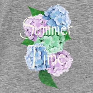 Summer Vintage Hydrangea floral by patjila Accessories - Men's Premium T-Shirt