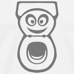 Latrine Toilette WC smiley 0 Pullover & Hoodies - Männer Premium T-Shirt