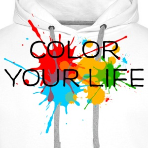 Ink, Paint, Color your life, Splashes, Splatter, T-Shirts - Men's Premium Hoodie