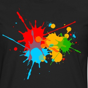 Ink, Paint, Color, Splashes, Splatter, Colour, Fun T-Shirts - Men's Premium Longsleeve Shirt