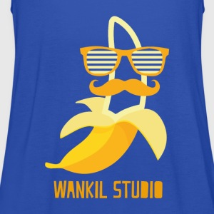 Navy hipster banana T-Shirts - Women's Tank Top by Bella