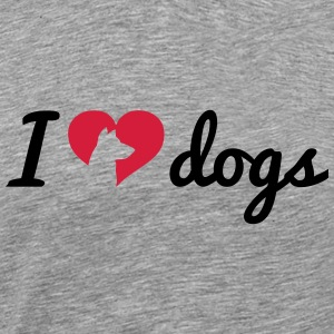 Fancy I Love Dogs Tops - Männer Premium T-Shirt
