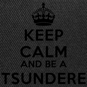 Keep calm and be a tsundere Koszulki - Czapka typu snapback