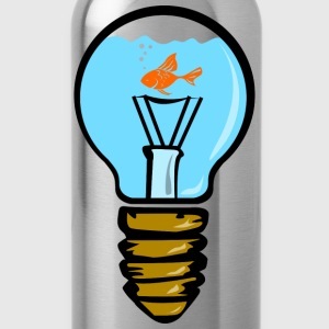 Bulbs aquarium with fish T-Shirts - Water Bottle