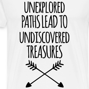 Unexplored Paths Tops - Men's Premium T-Shirt