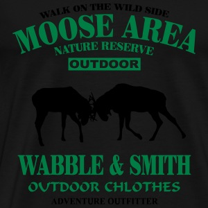 Fighting Moose  Sweaters - Mannen Premium T-shirt