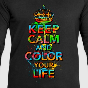 KEEP CALM, quotes, funny, color, crown, slogan T-Shirts - Men's Sweatshirt by Stanley & Stella