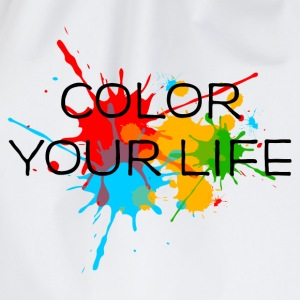 Ink, Paint, Color your life, Splashes, Splatter, T-Shirts - Drawstring Bag