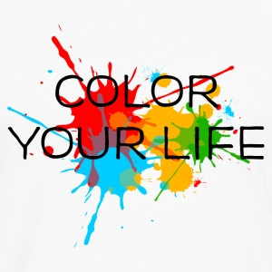Ink, Paint, Color your life, Splashes, Splatter, T-Shirts - Men's Premium Longsleeve Shirt