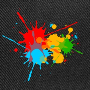 Ink, Paint, Color, Splashes, Splatter, Colour, Fun T-Shirts - Snapback Cap