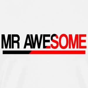 Mr Awesome  Aprons - Men's Premium T-Shirt