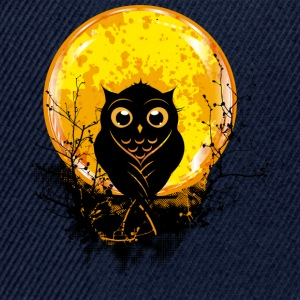 An owl in the forest under a full moon T-Shirts - Snapback Cap