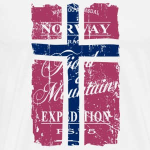 Norway Vintage Flag  Aprons - Men's Premium T-Shirt