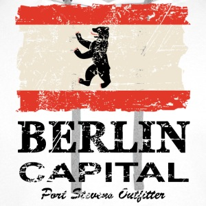 Berlin Vintage Flag Tabliers - Sweat-shirt à capuche Premium pour hommes