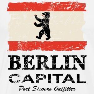 Berlin Vintage Flag Tabliers - T-shirt Premium Homme