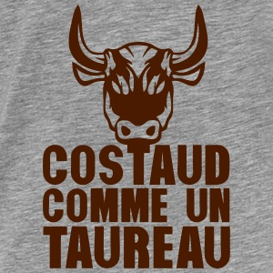 costaud comme un taureau expression Sweat-shirts - T-shirt Premium Homme
