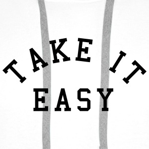 Take It Easy Buttons & merkelapper - Premium hettegenser for menn