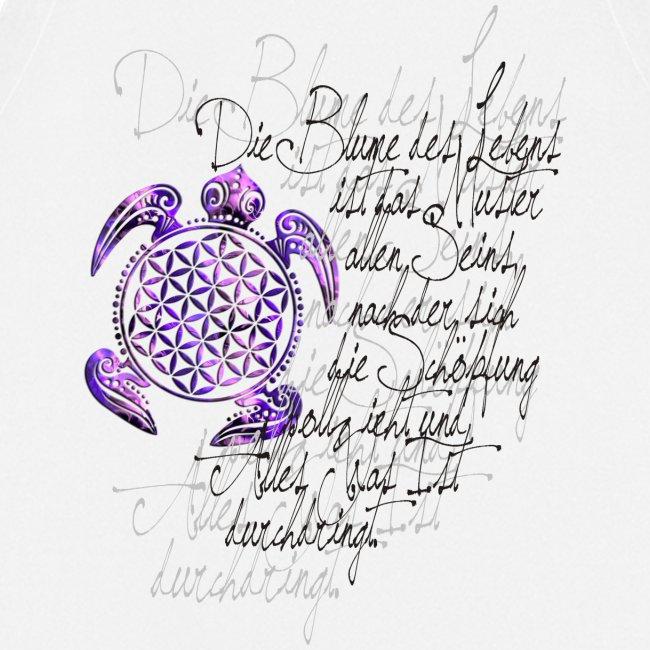 Blume des Lebens Schildkröte