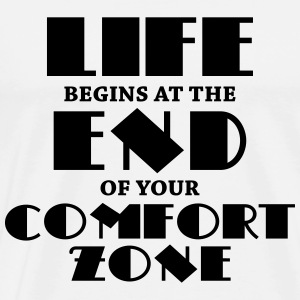 Life begins at the end of your comfort zone Shirts met lange mouwen - Mannen Premium T-shirt