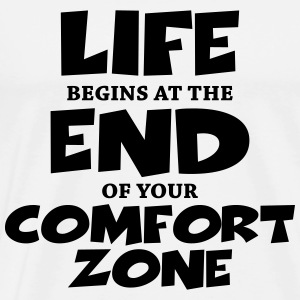 Life begins at the end of your comfort zone Langærmede t-shirts - Herre premium T-shirt