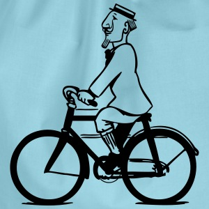 cycling gentleman T-Shirts - Drawstring Bag