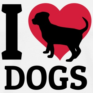I love dogs Gensere - Premium T-skjorte for menn