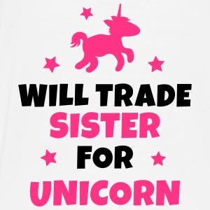 Will trade sister for unicorn Tröjor - Premium-T-shirt herr