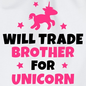 Will trade brother for unicorn Hoodies - Drawstring Bag