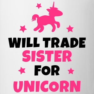 Will trade sister for unicorn Langærmede shirts - Kop/krus
