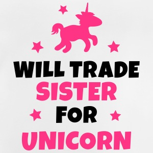 Will trade sister for unicorn Manches longues - T-shirt Bébé