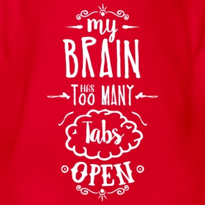 my brain - white T-Shirts - Baby Bio-Kurzarm-Body