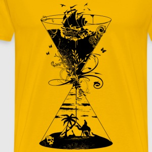 surreal hourglass ocean and desert- Mugs & Drinkware - Men's Premium T-Shirt