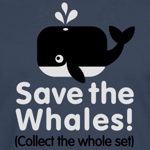 Save the whales (Collect the whole set) Shirts - Mannen Premium shirt met lange mouwen