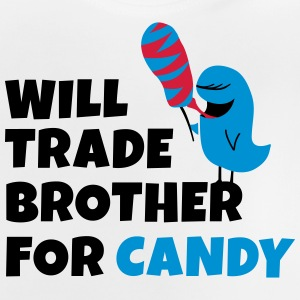 Will trade brother for candy seront négociées frère pour candy Manches longues - T-shirt Bébé