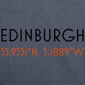 Edinburgh scotland coordinates - Shoulder Bag made from recycled material