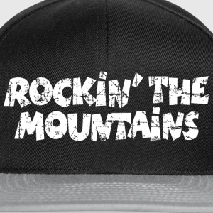 Rockin the Mountains Vintage White (DK) T-shirts - Snapback Cap