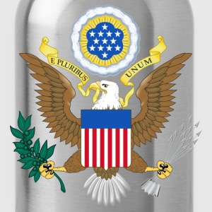 USA coat of arms T-Shirts - Trinkflasche
