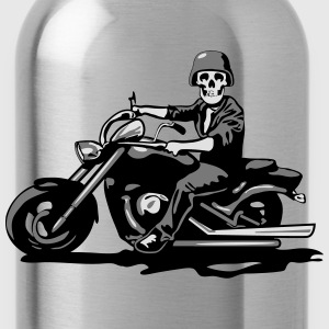 Chopper cool schedel stalen Motorhelm T-shirts - Drinkfles