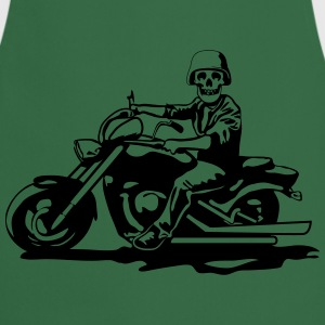 Motorcycle chopper cool skull steel helmet T-Shirts - Cooking Apron