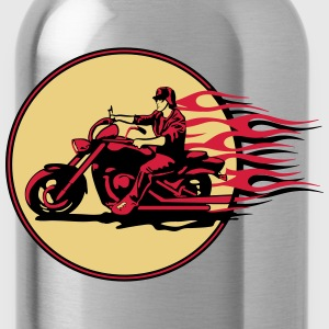 Motorhelm chopper cool stalen brand T-shirts - Drinkfles