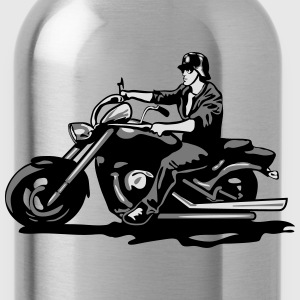 Motorhelm chopper cool stalen T-shirts - Drinkfles