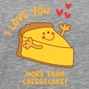 Beige I love you more than Cheesecake Other - Men's Premium T-Shirt