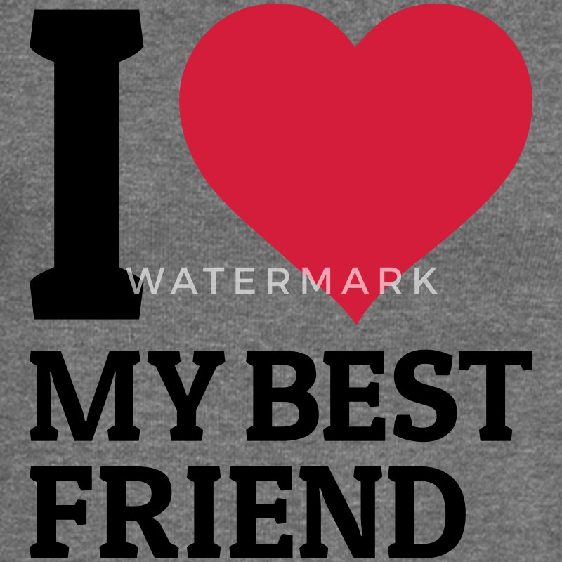 I love my best friend Sweat-shirts - Pull Femme col bateau de Bella