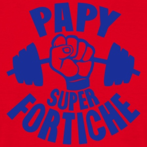 papy super fortiche haltere tordu poing Tabliers - T-shirt Homme