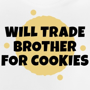 Will trade brother for cookies Langarmede T-skjorter - Baby-T-skjorte